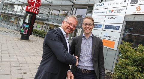 Fornøyde: Adm.dir. Pål Einar Berntsen i View Software (t.v.) og Joar Welde fra Viking Venture er begge fornøyde med den nye avtalen. Welde trer nå inn som styreleder i View Software.
