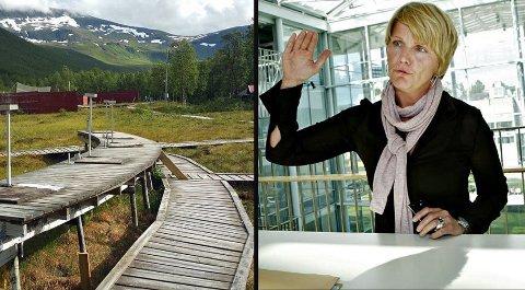 KAN SKYTE: Mette Mohåg, byutviklingssjefen i kommunen, forteller at de på nåværende tidspunkt ikke kan stoppe skytterne i Tromsdalen.