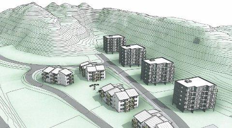 SNART BYGGESTART: Consto skal i januar neste år gå i gang med byggingen av Jensvolldalen III i Bodø. Prosjektet består av 92 leiligheter fordelt på fire blokker.