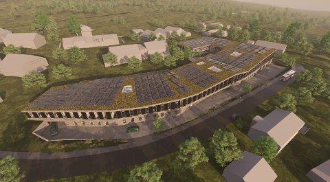 SOLCELLER: Kontorbygget får soloceller i både tak og fasade. - Dette vil produsere mer energi enn bygget har bruk for, påpeker Kaare M. Krane fra GK Gruppen Eiendom..