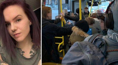 BUSSPASSASJERER: June Skogan (26) mener at bussjåførene i større grad bør ta ansvar for overfylte busser.