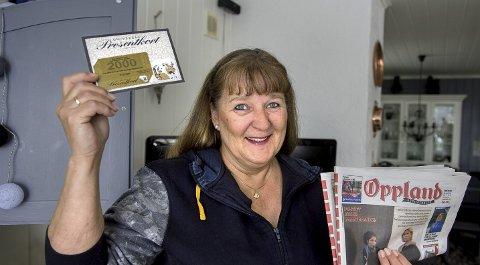 Vårord vinner: Kristin Granheim Martinsen kunne kassere inn gavekort på 2000 kroner etter å ha løst bokstavleken i OA.