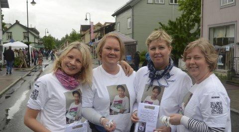 Støttegruppa for Farida er sjokkert over nivået på innvandringskritiker Hege Storhaugs utstill.  Fra venstre Kathrine Fossen Rosenberg, Lise Kokkvoll, Liv Marie Simensveen og Britt Karin Rotmo.       Arkivbilde