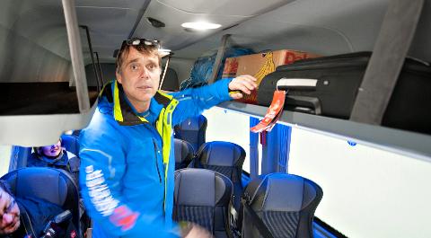 FRA KONGSBERG: Gjermund Jamtveit forteller at han har besøkt Harald Årsbog i Svarstad skisenter flere ganger. – Vi drikekr kaffe og sånn, sier han til Østlands-Posten.