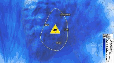 KAN BLI KREVENDE: Det er liten tvil om hva som er værvarslet for søndag.