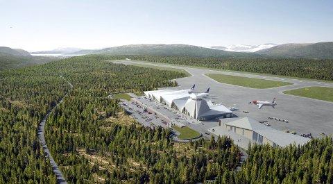 FLYPLASS: Politikerne i formannskapet får på bordet forslaget til videreføring av spleiselaget mellom Polarsirkelen lufthavnutvikling og kommunen. SKISSE