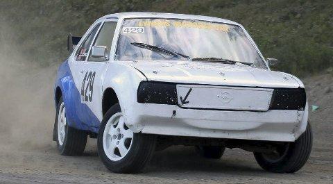 Full guffe: Kenneth Lyngås fikk fart på bilen i Piteå, men hadde ikke marginene på sin side. Han nådde akkurat ikke semifinalen. Foto: Privat