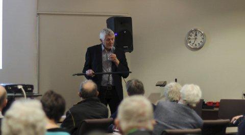 Gudmund Bakke fortalte om historien til Anna Colbjørnsdatter, til stor interesse for publikum.