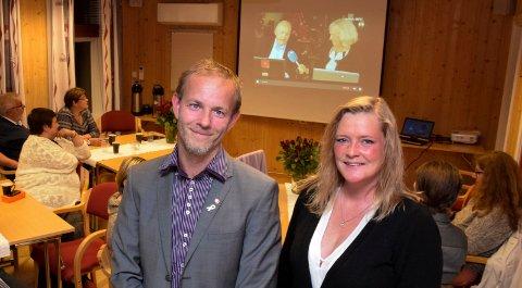 VALG: Mons-Ivar Mjelde og Anne Sandum (begge Ap) er valgt på det som skal være sikre plasser til regionvalget i den nye region Viken.
