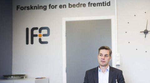 SLUTT: IFE-direktør Nils Morten Huseby går for permanent stenging av atomreaktoren på Kjeller.