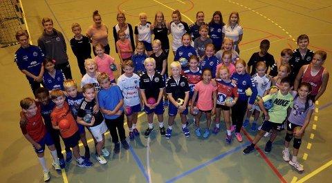 Flinke: Deltakere på HK-72's håndballskole. Alle foto: Svein-Ivar Pedersen