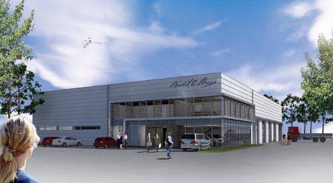 NYBYGG PÅ SKOLMAR: Omtrent slik kommer det 2.000 kvadratmeter store nybygget til å se ut når det står ferdig i 2017/2018. (Illustrasjon: Link Arkitektur)