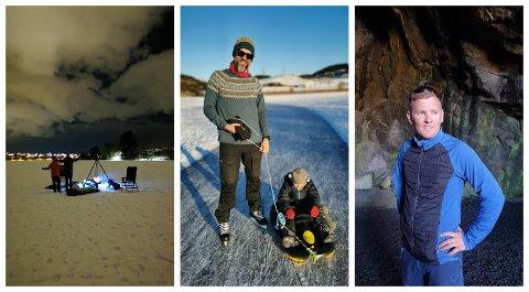 Sindre Sletten (41, til venstre) og Sindre Lea (35, til høgre) overnatta midt på isen på Stokki.
