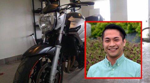 Noen stjal motorsykkelen til Kevin Le (24).
