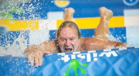 UHELDIG: Bent Svele storkoste seg under «Tøffest i Telemark», men var uheldig under den ene vannøvelsen. Foto: Per-Åge Eriksen