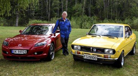 MAZDA-DILLA: Helge Solberg har hatt over femti biler av typen Mazda.