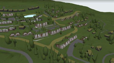 Det planlegges fortetting med hytter og leilighetsbygg rundt Danebu kongsgard på Aurdalsåsen, med 130 boenheter i alt.