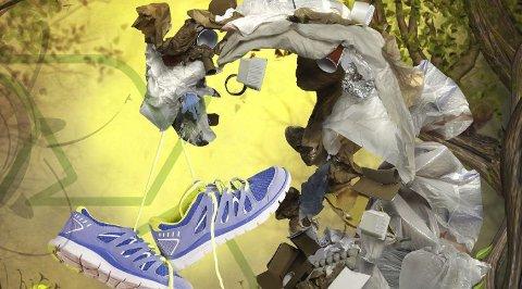 Resirkulering: Bruk og kast er ut, gjenbruk er inn. Men selv om vi vet hvordan det skal gjøres, er samfunnet ennå ikke rigget for resirkulering. Illustrasjon