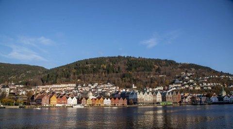 Skal du oppleve Bergen badet i sol bør du komme deg ut mandag eller tirsdag.