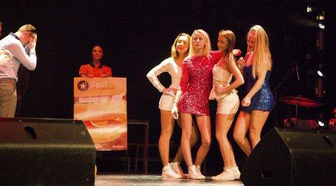 Fire jenter håpar å freista seg med på nachspiel i Best-køen. (F.v.), Vegard Steen Eikeland, Maria Frøyen, Andrea Nygård, Vilde Hystad, Kristina Knutson og Sandra Takvam