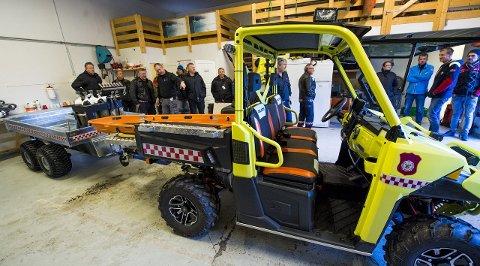 Spesialbygd: Denne bilen kan bli viktig ved eventuelle ulykker eller brann i Hvalertunnelen.BEGGE FOTO: ERIK HAGEN