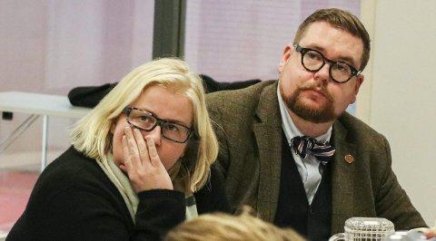Anno-nei: Anne Marte Frestad Andersen og Knut Thomas Hareide-Larsen i Høyre stemte imot kulturnæringsinvesteringer på 250.000 kroner sammen med Miljøpartiet De Grønne.Foto: Thomas Hörman Arntsen