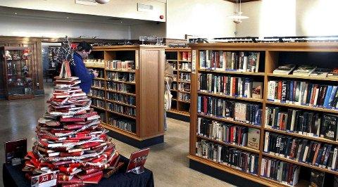 Rekord: Aldri tidligere har bibliotekene i Fredrikstad-distriktet registrert så mange utlån som i 2015. Arkivfoto: Svein Kristiansen