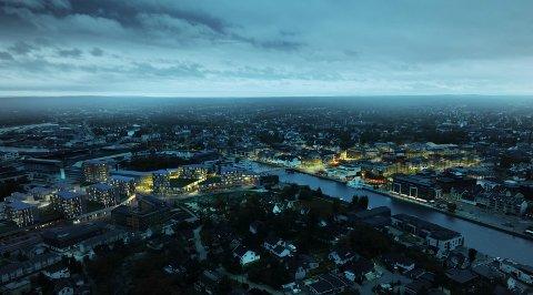 Med den planlagte utbyggingen på Værstetorvet vil sentrum vokse seg større. Det mener utbyggerne er helt nødvendig. – Nøkkelen er å lykkes med å skape et levende sentrum som folk bruker, sier Morten Fredriksen.