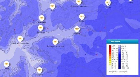 KALDT: Det blir kaldt vær så langt meteorologene kan se, men det blir pent vær.