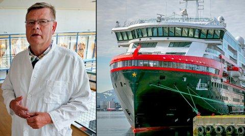 SKAL LÆRE OPP ANSATTE:  Hurtigruten har ansatt UiT-professor Ørjan Olsvik som rådgiver. Han skal blant annet delta i videreopplæring av Hurtigruten-ansatte.