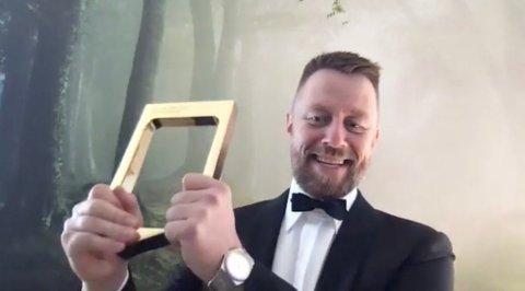 TIL TOPPS: Geir Aker vant den aller gjeveste prisen under Gullruten.