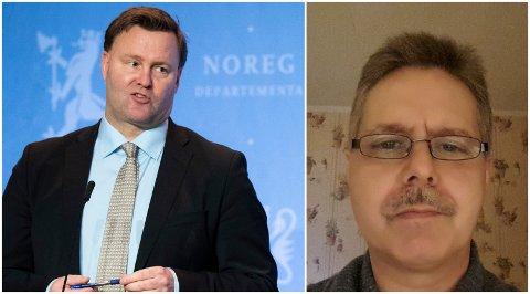 SVARER: Assisterende direktør i Helsedirektoratet, Espen Nakstad, gir klare svart til Geir Jahnsen fra Gran. Han mener korona er en løgn og har ingen planer om å ta vaksine.