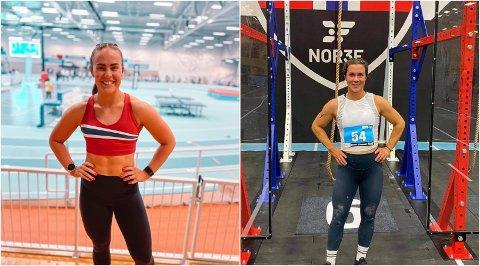Solveig Hagelien (t.v.) og Marthe Voldsrud deltar i NM i Functional Fitness.