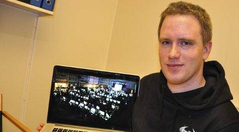 KLARE: Steinar Engelund Glæserud og resten av staben bak Hadelan er klare for Hadelands største dataparty.