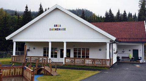 STENGER DØRENE: Grua barnehage er stengt fredag og hele neste uke.