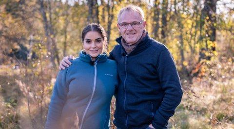 DRØMMEHYTTA: Bahareh Letnes og Per Sandberg er med i nytt TV 2-program hvor de skal snekre møbler til «Drømmehytta».