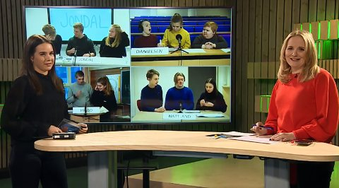 Klassequizen sin finale i Hordaland gjekk av stabelen fredag 4. desember. Foto: Skjermdump
