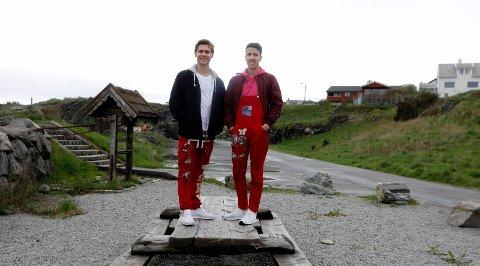 KLAR FOR FEST: Russen har i år tilhold i Rekavika 16 mai. Fra v. Tore Torvestad, russepresident Skeisvang og Amar Sehic
