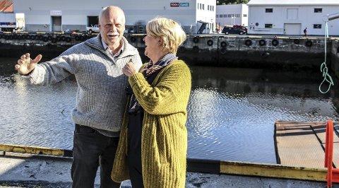 Fornøyd: Ordfører Jann-Arne Løvdahl er glad for at Hild-Marit Olsen igjen planlegger å flytte ferjeleiet vekk fra Mosjøen Havn. FOTO: Truls-Einar Johnsen