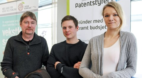 GRÜNDERE: F.h Caroline Langvatn fra Vefsn, Petter Hoff Krutådal fra Hattfjelldal og Jørn Børre Johansen fra Lurøy. Foto: Marit Almendingen
