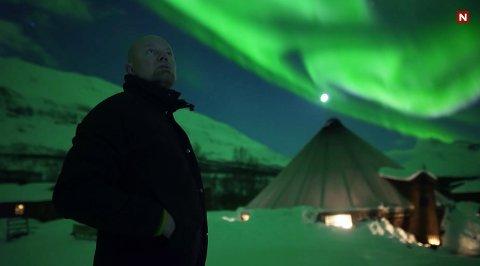 EVENTYRLIG: TV-serien byr på spektakulære nordlys-scener. Her fra Camp Tamok, med hovedperson Hans-Olav Holtermann Eriksen.