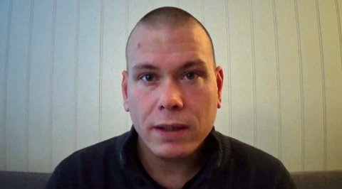 Videograbb fra YouTube av Espen Andersen Bråthen som er siktet for drap på fem personer på Kongsberg.