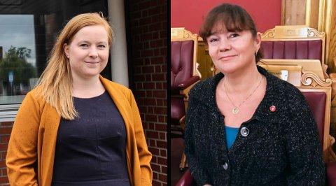 KLARE: Åshild Pettersen (SV) og Hanne Dyveke Søttar (FrP) er klare for valgkamp.