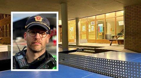 Marius Bergan ved forebyggende avdeling i Harstad politistasjon. Illustrasjonsfoto.