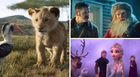 TOPPFILMER: Mens «Løvenes Konge» ble mest sett på Bryne Kino i 2019, kom «Snekker Andersen og Julenissen» på tredjeplass. «Frost 2», som hadde norgespremiere 1. juledag, ble den fjerde mest sette filmen i fjor – og bidrar til at kinoer over hele landet får en god start på 2020.