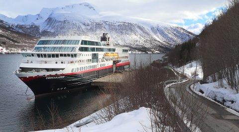 SEILER IGJEN: 21. juni settes MS «Trollfjord» inn i vanlig trafikk igjen, etter landligge ved Olavsvern siden 20. mars.