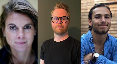 Kirsti Ellefsen, Jo Morgan Hartvin og Omar Bouignane blir snart å se på jobb for Nordstrands Blad.