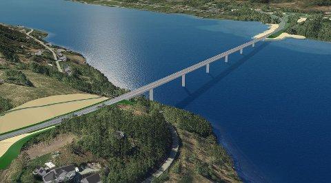 NY BRU: En bru på 870 meter skal gå over Ramfjorden dersom Statens Vegvesen får det som de vil.