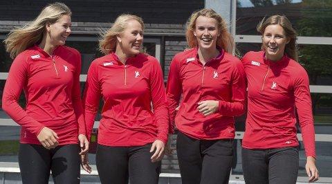 Guro Nestaker (fra venstre), Eline Fagerheim, Mari Finstad Bergum og Synne Fossheim