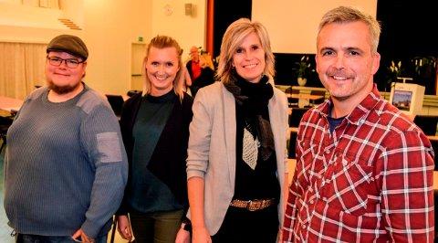 TAR STYRING: Senterpartiets Bror Helgestad (t.h.) blir ny ordfører. Med på laget er også f.v. Tor gaute Lien (Frp), Kristin Jess bakken (V) og kommende varaordfører Tove Beate Skjolddal Karlsen (H).